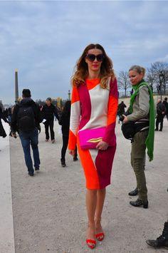 that dress is just beyond. #JaninaNectara looking bonkers amazing in Paris.