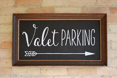 Valet Parking chalkboard sign art custom made by AVH of www.i-do-signs.com.