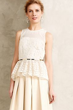 Trois Peplum Top #anthropologie