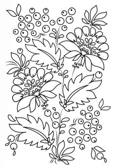 Petrykivka Pattern Coloring page