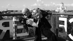 Movie kiss on top of Helsinki on our wedding day!
