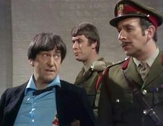 The Second Doctor, Sergeant Benton and Brigadier Lethbridge-Stewart