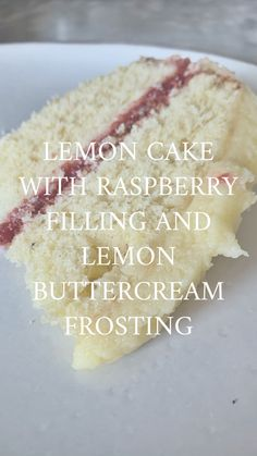 I make this seriously delicious lemon cake with raspberry filling and lemon frosting for Avery's birthday and it is DIVINE! Raspberry Filling, Raspberry Cake, Cake Recipes, Baking Recipes, Dessert Recipes, Baking Ideas, Delicious Desserts, Just Desserts, Yummy Food