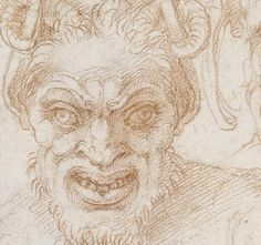 Michelangelo Buonarotti – Grotesque heads and further studies, ca 1524-25