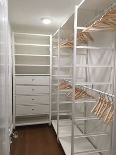 Everything you ever needed to know about IKEA closets From how to hack them to installation software we re here to help you get organized stat # Eye-Candy bedroom closet shopping guide Ikea Ikea hack closet organizing storage storage solutions Ikea Closet Doors, Walk In Closet Ikea, Ikea Closet Hack, Ikea Hack Storage, Ikea Closet Organizer, Corner Closet, Closet Hacks, Walk In Closet Design, Closet Designs