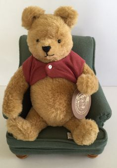 R. John Wright Dolls Disney Winnie The Pooh With Chair Teddy Bear