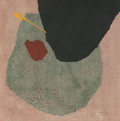 "Masaji Yoshida (Japanese, 1917-1971), ""Abstract"", c. 1960; color woodblock print, 24"" x 24"", signed and dated."