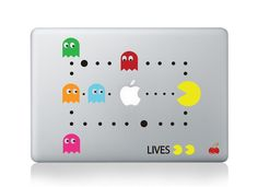 Pacman -- Mac Decal Mac Sticker Macbook Decals Macbook Stickers Vinyl Decal for Apple Laptop Macbook Pro / Macbook Air / iPad on Etsy, $8.99