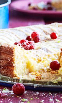 Gluteeniton valkoinen mutakakku | Maku Joko, Gluten Free Baking, Sweet And Salty, Vanilla Cake, Cheesecake, Deserts, Goodies, Food And Drink, Cooking