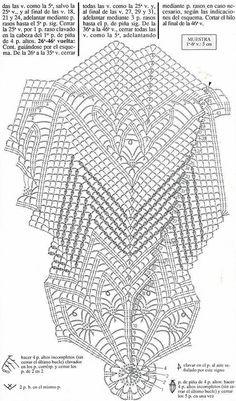 Kira scheme crochet: Scheme crochet no. Free Crochet Doily Patterns, Crochet Doily Diagram, Crochet Mandala, Crochet Squares, Crochet Motif, Crochet Doilies, Filet Crochet, Crochet Cross, Crochet Art