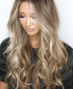 20 Cute and Easy Blonde Balayage Hairstyles – My hair and beauty Ombre Highlights, Warm Blonde Highlights, Brown Blonde Hair, Beige Blonde, Hair Color And Cut, Light Hair, Grunge Hair, Blonde Balayage, Great Hair