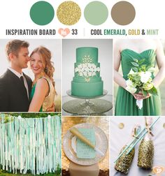 emerald mint | 33-emerald-mint-gold-inspiration-board