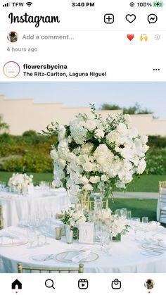 White Floral Centerpieces, Table Decorations, Instagram, Home Decor, Decoration Home, Room Decor, Home Interior Design, Dinner Table Decorations, Home Decoration