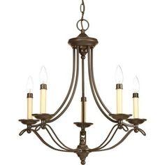 Progress Lighting Avalon Collection 5-Light Antique Bronze Chandelier-P4057-20 - The Home Depot 265