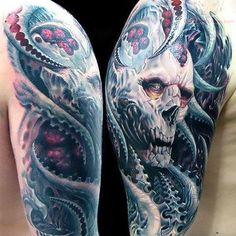 Great Horror Tattoo on Shoulder Tattoo Idea