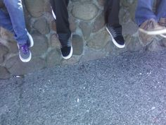 Shoes on the ledge