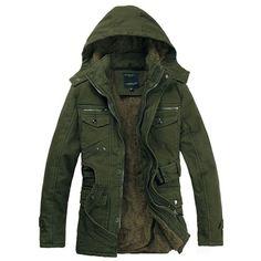 LOVEBEAUTY Men's Fashion Winter Warm Outwear Hooded Jacket Parka Coat (3.560 RUB) ❤ liked on Polyvore featuring men's fashion, men's clothing, men's outerwear, men's coats, mens coats, mens parka, mens hooded coats, mens parka coats and mens outerwear