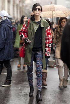 Milan Fashion Week Fall 2013 #streetstyle #mfw