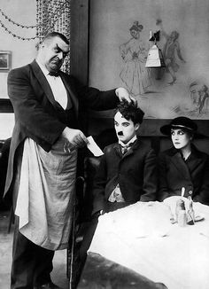 """ Eric Campbell, Charlie Chaplin & Edna Purviance in The Immigrant (1917)"" #vintage"