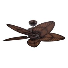 Batalie Breeze by Emerson is an indoor/outdoor tropically-inspired fan with rattan-influenced blades. This fan comes in three finishes, inlcuding Venetian Bronze.
