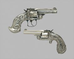 Smith and Wesson .32 Single-Action Revolver, serial no. 17156 Smith & Wesson (American, established 1852) Decorator: Tiffany & Co. (1837–present) Date: ca. 1889–90 Culture: American, Springfield, Massachusetts and New York