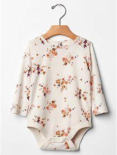 Floral keyhole bodysuit | Gap