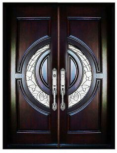 Details about Solid Wood Front Door Entry Door Unit Pre-hung &Finished Double Door Collection Wooden Front Door Design, Wooden Double Doors, Double Front Entry Doors, Double Door Design, Door Gate Design, Door Design Interior, Wooden Front Doors, Front Gate Design, Home Design