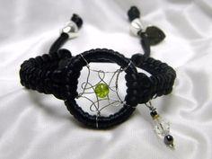 Dream Catcher Braided Bracelet Black by CreationsbyDreamLady, $18.00