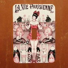 The Doll House  French Magazine Cover Light Switch Cover