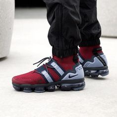 8412b0bcba4e Nike Air Vapormax Flyknit Utility Trainers Team Red Black Obsidian Ashen  Slate - His trainers