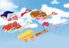 Winx club in lolirock version Winx Club, Las Winx, Fandom Crossover, Star Children, Magical Girl, Sword Art, Disney Love, Online Art, Cool Art
