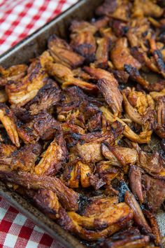 """CARNITAS (A LIGHTER VERSION) RECIPE) ~ From: """"CLOSET COOKING.COM"""" ~ Recipe Courtesy Of: """"KEVIN LYNCH"""". ~ Prep.Time: 10 min; Cooking Time: 2 hrs, 30 min; Total Time: 2 hrs, 40 min. Level: Easy; Yield: (8 Servings). *** A healthier version of carnitas, a Mexican style braised pulled pork that is broiled until crispy on the outside but is still moist and tender on the inside and it's just packed with flavour!"""