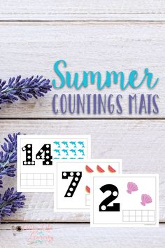 Learning doesn't have to stop when school is out, have fun counting with these summer counting mats.