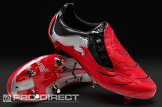 Puma Football Boots - Puma PowerCat 1.10 SG - Soft Ground - Soccer Cleats - Puma Red-Black-Puma Silver