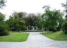 Tábor – Wikipedie-Husův park, pomník mistra Jana Husa od sochaře Františka Bílka