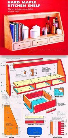 Kitchen Shelf Plans - Furniture Plans and Projects | WoodArchivist.com
