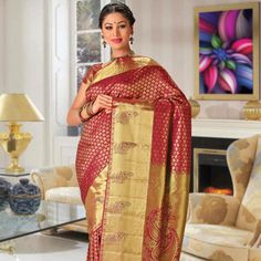 Kanchipuram Sarees Online: Utsav Fashion brings you a magnificent Kanchipuram Silk Sarees collection in a range of striking colors and patterns. Buy Kanchipuram Sarees in Silk, Chiffon, Linen and more, at best prices. Bridal Sarees Online, Silk Sarees Online, Kanjivaram Sarees, Kanchipuram Saree, Wedding Silk Saree, Bridal Lehenga, Pure Silk Sarees, Cotton Saree, Saree Collection
