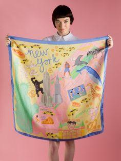 New York, New York Silk Scarf | Karen Mabon