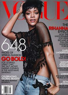 Rihanna for March Vogue