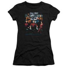 Star Trek/25Th Anniversary Crew Junior Sheer in Black