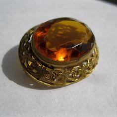 Antique Edwardian Czechoslovakian Filigree Brooch #vintage #antique #brooch #pin #topaz #filigree #czechoslovakia #jewelry @Etsy