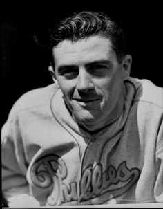 September 9, 1913 – October 19, 2001: Hugh Mulcahy:      Philadelphia Phillies (1935–1940, 1945–1946)     Pittsburgh Pirates (1947) // became the very first major leaguer to be drafted into United States military service before the U.S. entered World War II, on March 8, 1941.He ended up serving over four years. It is worth a few minutes to read about him: http://sabr.org/bioproj/person/243755f5