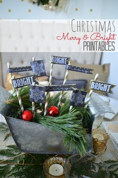 Christmas Merry & Bright FREE Printables!! -- Tatertots and Jello #DIY #Christmas