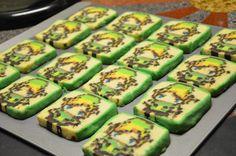 Galletas pixeladas de Link de Legend of Zelda
