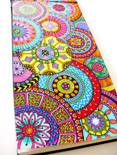 beautiful colorful zentangle
