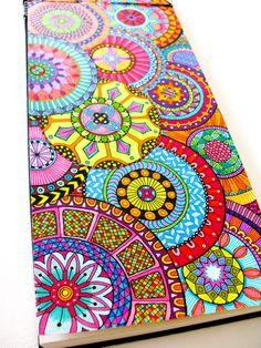 beautiful colorful zentangle