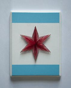 Chicago Star String Art by SelerdorDesigns on Etsy, $35.00