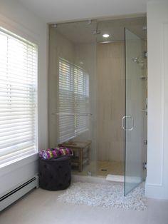 Master bath steam shower - Featured on Houzz.com:  http://www.houzz.com/ideabooks/15392379/list/My-Houzz--A-Prefab-Modern-Farmhouse-Rises-in-Vermont