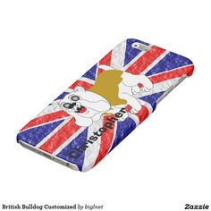 British Bulldog Customized Glossy iPhone 6 Case