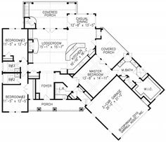 About House Plans On Pinterest House Plans Tandem And Floor Plans